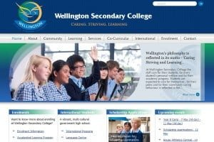 wellington college school web design